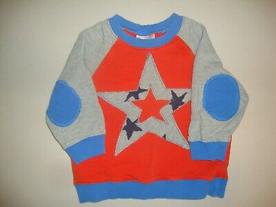 Hannah Andersson Orange & blue Star Applique L/S Sweatshirt 80