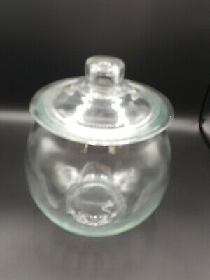 Large Round Clear Glass Apothecary Jar Cookie Candy Jar Terrarium w/ Lid  BP01