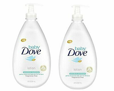 Baby Dove Sensitive Moisture Fragrance Free Head to Toe Wash 400ml Pack of 2