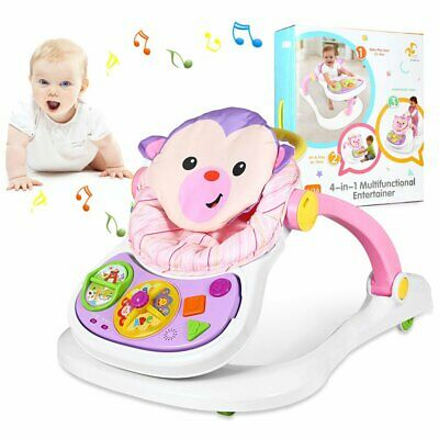 4+1 Baby Walker First Steps Push Along Bouncer Activity Music Ride On Car Melody