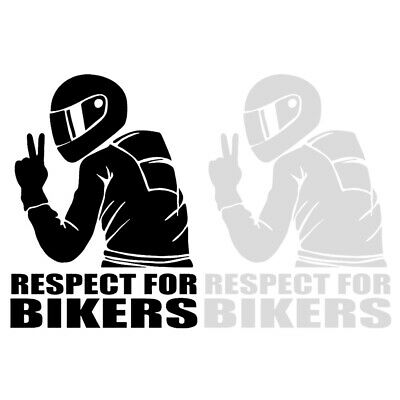1x 7.4inch Respect for Bikers Sticker Hot Decoration Cute Car Motorcycle Decal