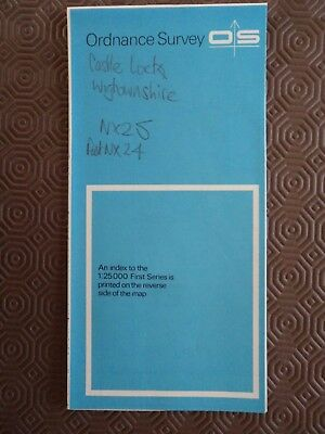 "Ordnance Survey 2.5"" Map NX25 Castle Loch 1961 Stairhaven Knock Fell Lintmill"