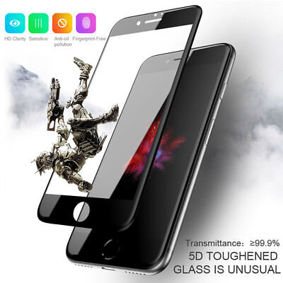 2pcs 5D Curved Tempered Glass Full Screen Protector Film For iPhone XS XR 6 7 8