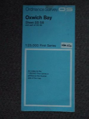 """Ordnance Survey 2.5"""" Map SS58 Oxwich Bay 1958 Oystermouth The Mumbles Penmaen"""