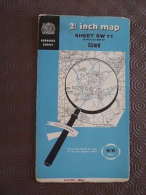 "Ordnance Survey 2.5"" Map SW71 Lizard 1960 Coverak Landewednack Ruan Minor Given"