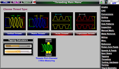 Threads 3 Wire Pitch Diameter Measuring Software Pee Dee thread wires set gage