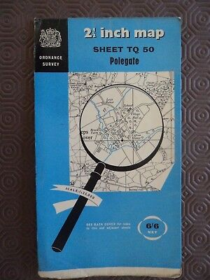 "Ordnance Survey 2.5"" Map TQ50 Polegate 1961 Alfriston Heathfield Willingdon"