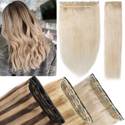 Invisible One Piece Clip In Hair.Real Remy Human Hair Extension.Ash Blonde A522