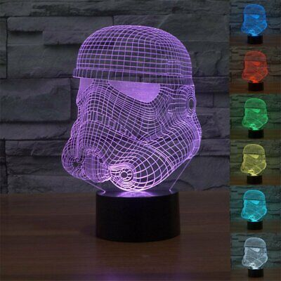 Star Wars Storm Trooper 3D Acrylic LED 7 Color Night Light Touch Table Desk Lamp