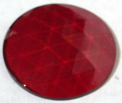"""swivel map dome light lens round 1-3/8"""" red glass for Peterbilt Kenworth Freight"""