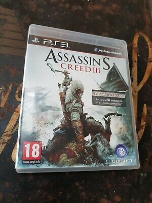 Assassin's Creed 3 (unsealed DLC Expired) - PS3 UK Release New!