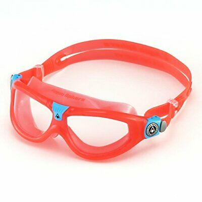 Aqua Sphere Childrens Seal Kid 2 Swimming Goggle, Mask, Red Clear Lens, Junio