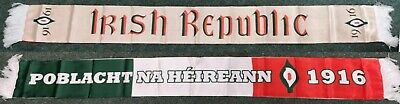Irish Republican 1916 Scarf. Easter Lily. Double sided silk scarf. Brand new.