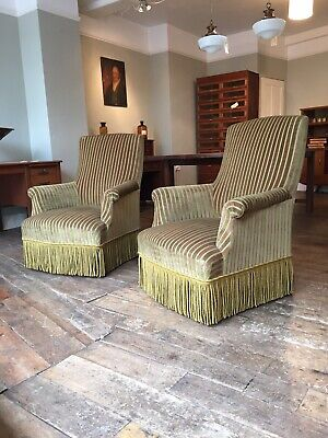 Pair Of French Antique / Vintage Chairs Armchairs 19th Century Napoleon III.