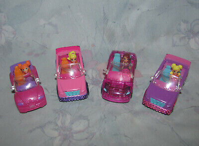 Mattel Polly Pocket Wheels Cars & Drivers Set of 4 - #1, 2, 3, 7 - Figures