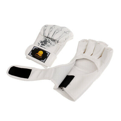 W85118 pelle MMA Boxing Mitts Grappling Guanti Q8 S7Y5