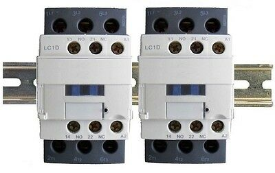 Contactor 30A 6 Pole 2x3 w DIN Rail, 120V Coil, 18A Motor, 32A Lighting 25a 110v
