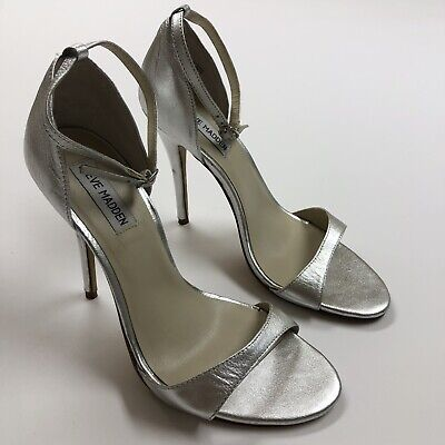 47d80d57c06 STEVE MADDEN SIZE 7 silver with rhinestones Women's Stiletto Shoes ...