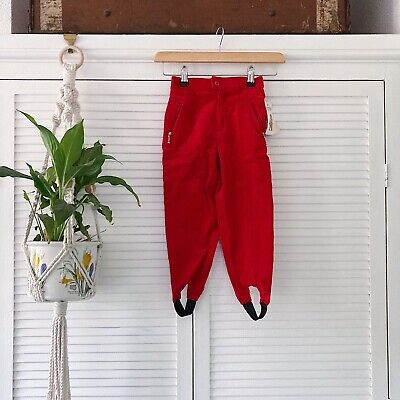 Vintage Red Cords Jodhpur French Deadstock New Age 4 Retro Trousers