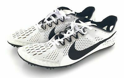 timeless design db560 7f3b5 Nike Zoom Victory 3 Unisex Racing Track Spike White Black 835997 107