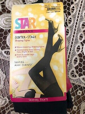 d2d863f2411c47 SPANX STAR POWER - CENTER STAGE Hi Waist Shaping Tights Navy Bl Size F 2153