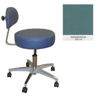 New Galaxy Doctor's Stool-Round Seat Comfortable Back Support Wedgewood 1060-GW