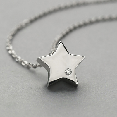 Real 100% 925 Sterling Silver Star Pendant Necklace Chain SOLID SILVER Jewelry