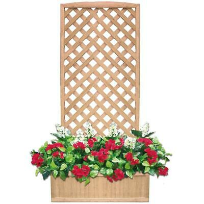 Panel Parrilla Enrejado Maceta Florero Madera Tropical l90xp32xh180 CM