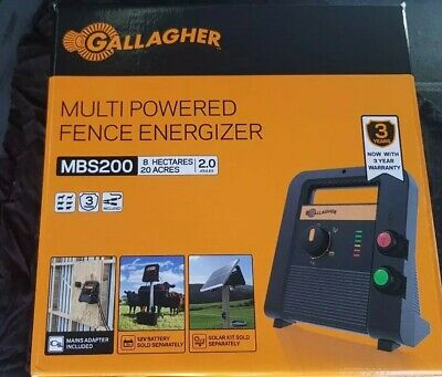 Gallagher electric fence energiser mbs200