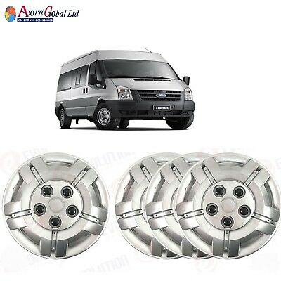 """16"""" To Fit Ford Transit Wheel Trims Deep Dish Trims Hub Caps Domed New 06-13 Mk7"""