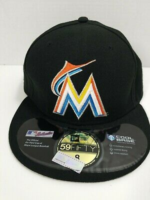 get cheap 0925c 7d409 Miami Marlins MLB New Era 59Fifty Fitted Hat Cap Size 8. Brand New