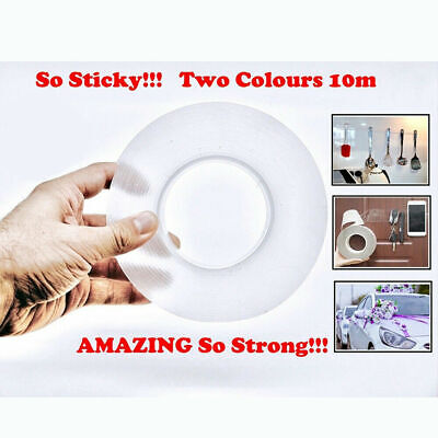 Double-sided Grip Tape Traceless Washable Adhesive Tape Nano Invisible Gel US