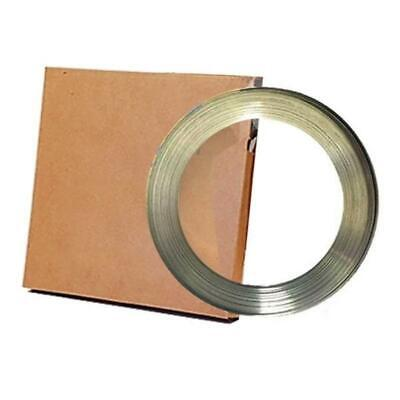 "201 Stainless Steel Band 3/4"" X 0.030"" X 100' Coil for Banding and Strapping App"