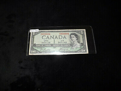 Bank Of Canada 1954 $1.00 Devil Face Note
