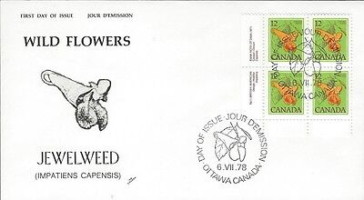 1979 Floral Definitives #712 Jewelweed LL Pl Blk FDC with NR Covers cachet