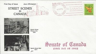 1978 Floral Definitive #712 Jewelweed FDC with NR Cover cachet Senate of Canada