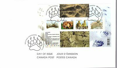 2011 #2424 Baby Wildlife Definitives S/S FDC with CP cachet