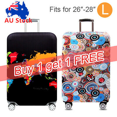 "2X Luggage Cover Elastic Suitcase Protector Anti Scratch Dustproof Bag 26""~28"""