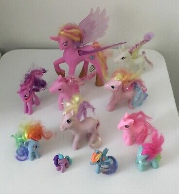 MY LITTLE PONY Bulk Lot 16 Items MLP Figurines Plush and Bag