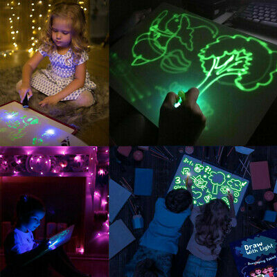 Draw With Light Fun And Developing Toy Drawing Board Magic Draw Educational New