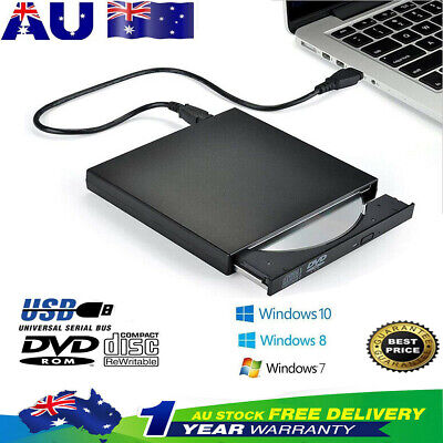 USB External DVD CD RW Disc Burner Combo Drive Reader Windows 98/8/10 Laptop PC