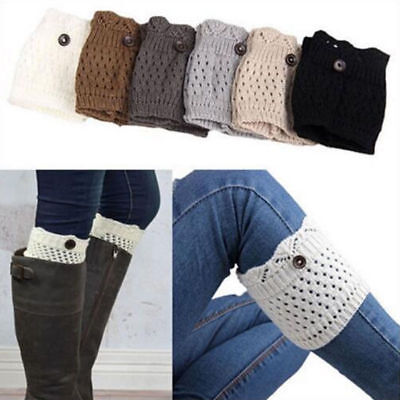 Leg Warmers Boot Cuffs Socks Women Cuff Crochet Knit Toppers Knee Legging Winter