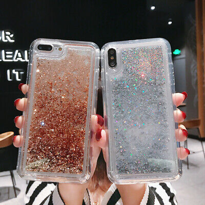 Dynamic Liquid Glitter Quicksand Soft Case Cover For iPhone XS MAX XR X 8 7 Plus