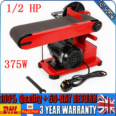 1450Rpm Heavy Duty Disc Belt Sander Polish Handheld Benchtop Rust Removal 4x 6in