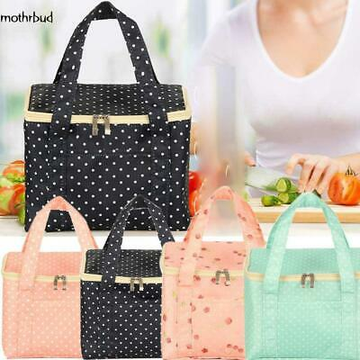 Portable Thermal Insulated Tote Lunch Bag Handbag School Lunchbag ca01