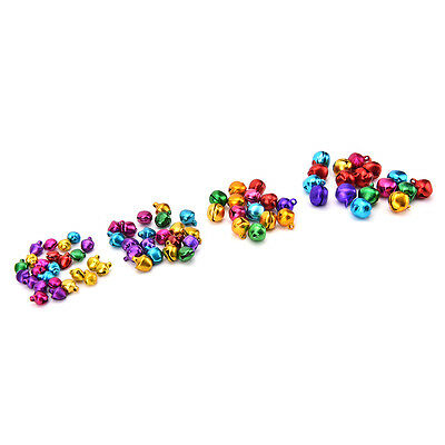 100 Pcs/Set Small Jingle Bells Colorful Loose Beads Decoration Pendant Craft