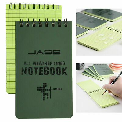 a64c5c0b49df WATERPROOF POCKET NOTEBOOK Notepad Army Green Pack Of 5 PVC Cover 5 ...