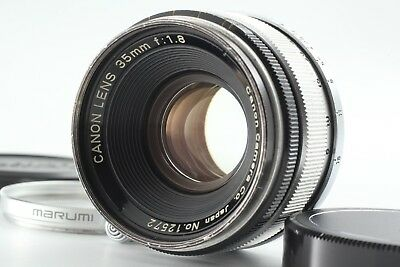 【RARE!!EXC+5】Canon 35mm f/1.8 Leica Screw Mount LTM L39 MF Lens from JAPAN #570