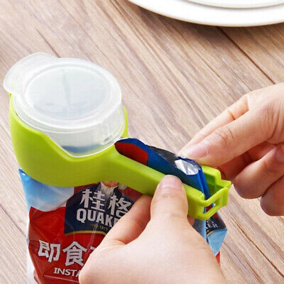 Plastic Food Seal Pour Storage Bag Clips Snack Sealing Clip Sealer Clamp Tool