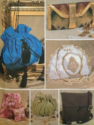 Butterick Sewing Pattern 3485 Historical Handbags Six Lined Bags Uncut